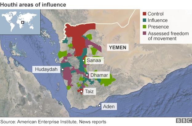 Mappa Houthi