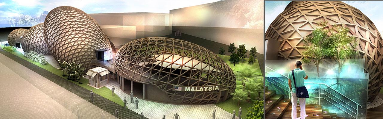 Il padiglione della Malesia