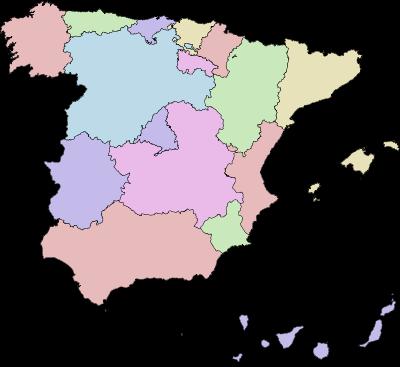 La divisione geografica delle comunità autonome