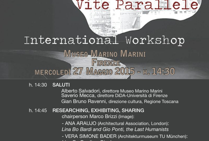 Flyer International Workshop, Firenze 27 maggio