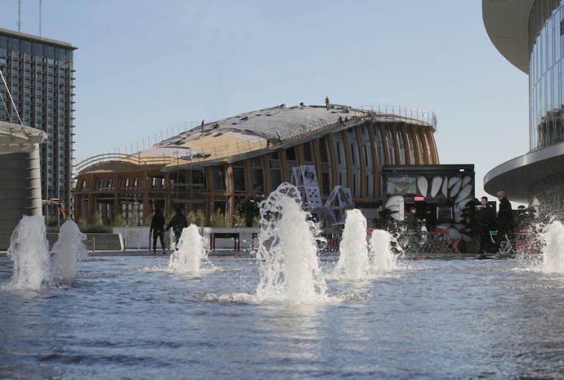 Pavilion in costruzione