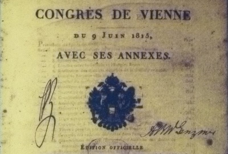 Protocollo finale del Congresso di Vienna