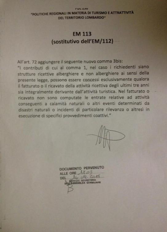 Em113 legge turismo Lombardia