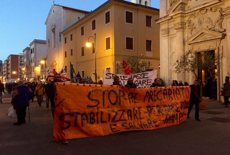 Corteo lavoratori Aamps, Livorno, 10 dicembre