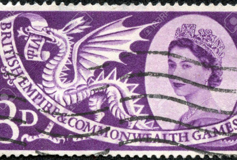 29556533-REGNO-UNITO-CIRCA-1958-Un-francobollo-stampato-in-Inghilterra-dedicato-al-6-Impero-britannico-e-del--Archivio-Fotografico