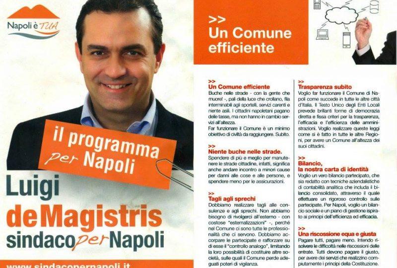 De Magistris manifesto elettorale