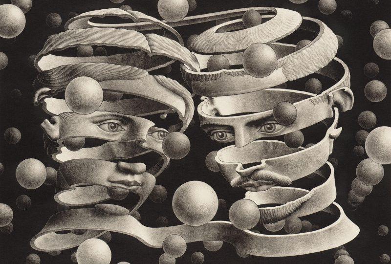 Universi Infiniti - Opera di Cornelis Escher; dal sito http://www.titianinntreviso.com/