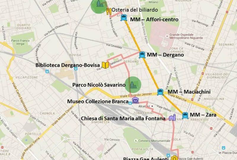 passeggiata Affori Dergano Isola Milano