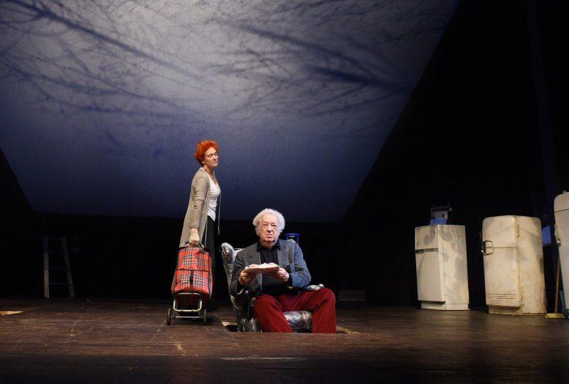 Elisabetta Pozzi e Paolo Bonacelli in prova, foto di Bepi Caroli