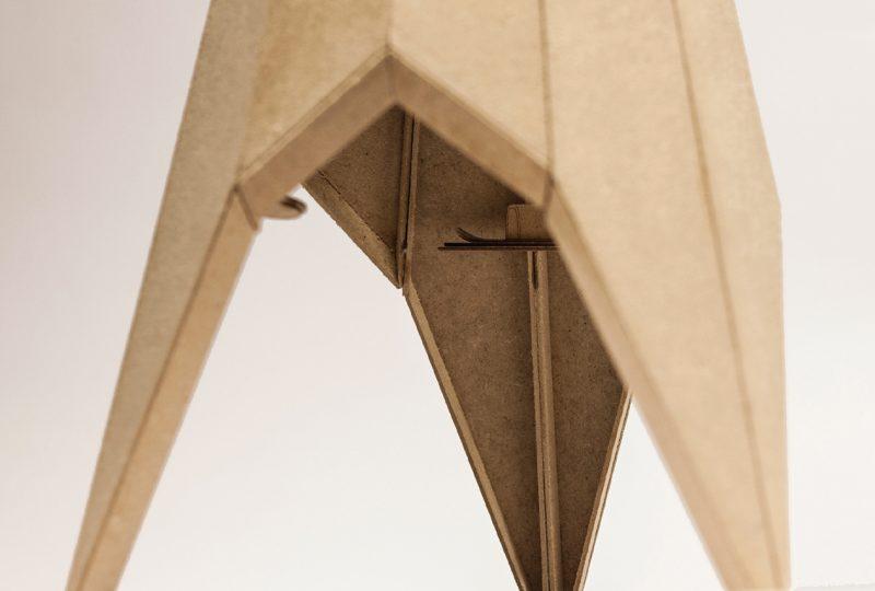 particolare del modello di Michele De Lucchi per Arch and Art (ph Domus)