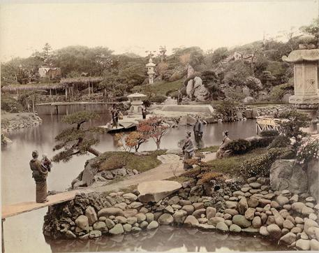 Kusakabe Kimbei (attr.), Il Parco del Principe Hotta a Tokyo, ante 1893