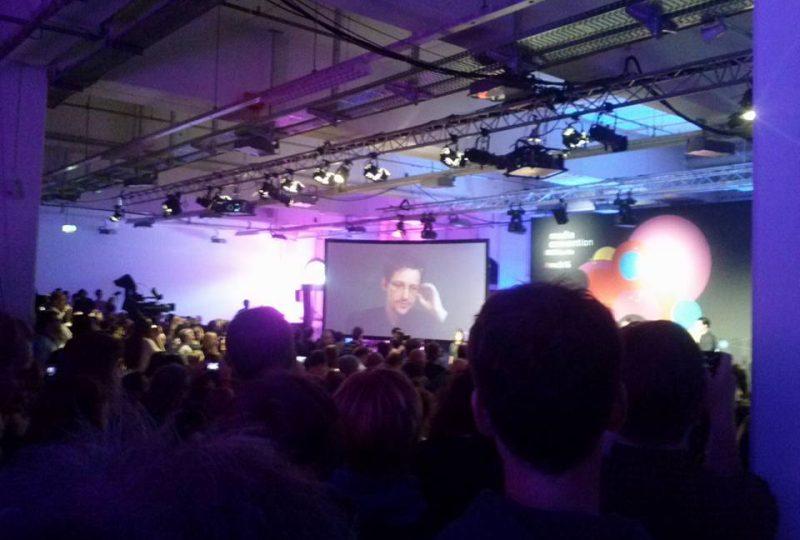 Snowden live da Mosca a Berlino, @ re:publica 2016