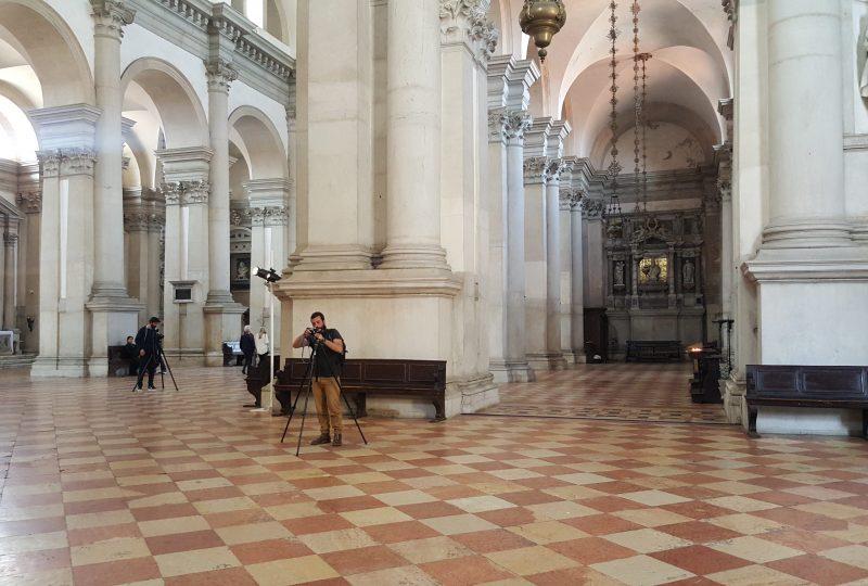 Nella chiesa di San Giorgio con Stefano Graziani