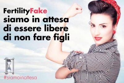 Immagine della controcampagna #fertilityfake