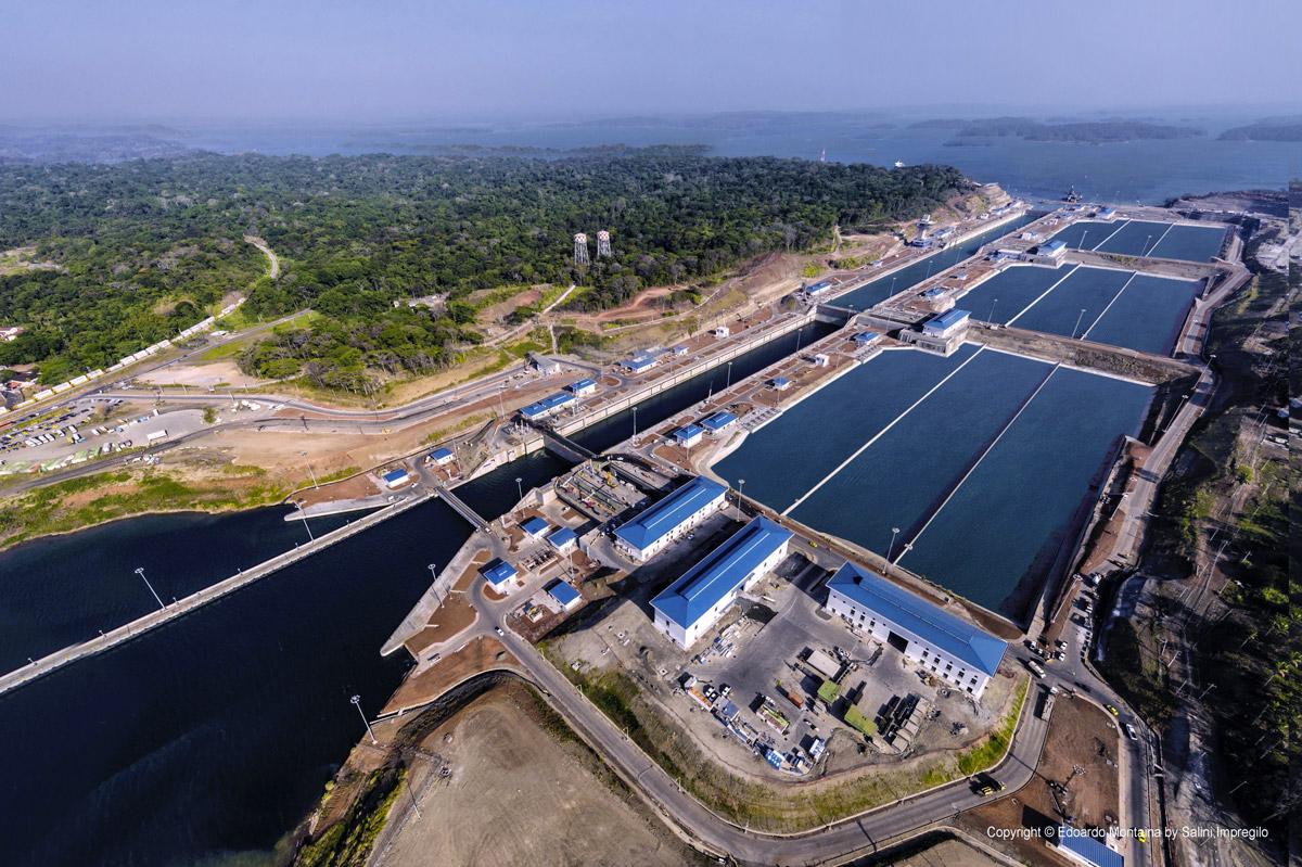 Chiuse del nuovo Canale di Panama