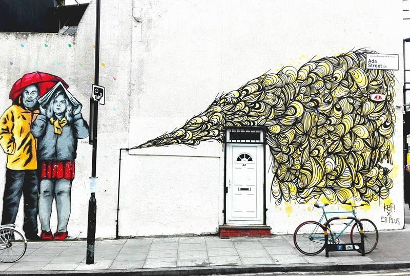 Murales London borough of Hackney