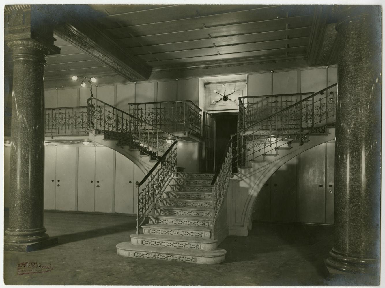Il caveau, Palazzo Comit, 1911,  Fotografo Achille Ferrario,  Archivio storico del Gruppo Intesa Sanpaolo