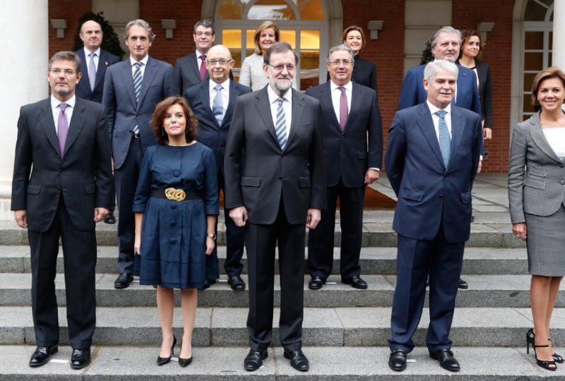 Il Governo di Mariano Rajoy dopo il giuramento