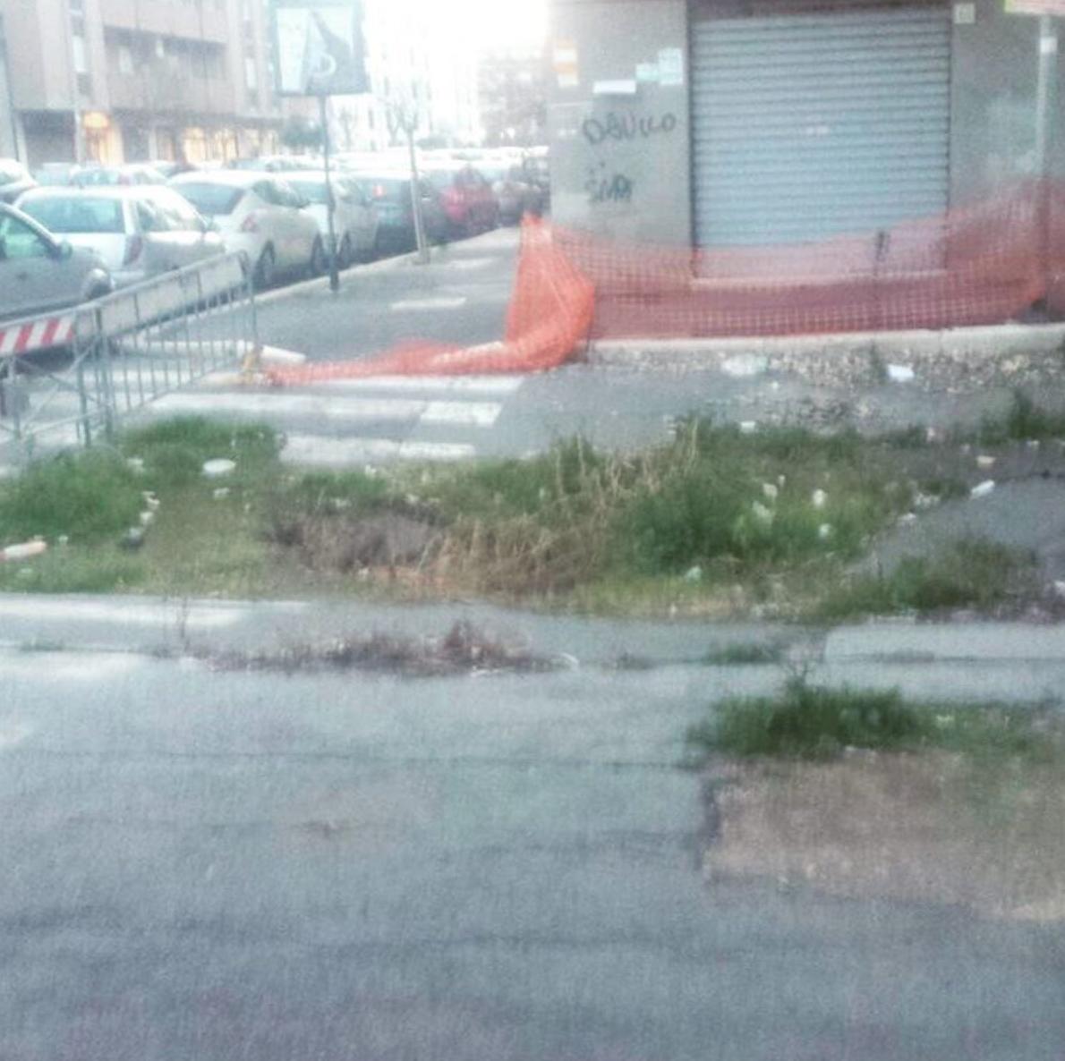 Municipio X - via Antonio Zotti angolo via Zambrini