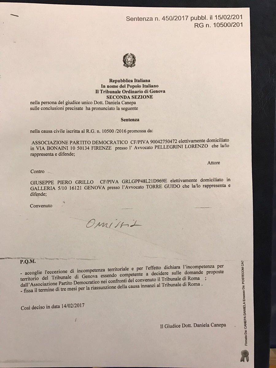 Il trasferimento del procedimento dalla Procura di Genova a quella di Roma