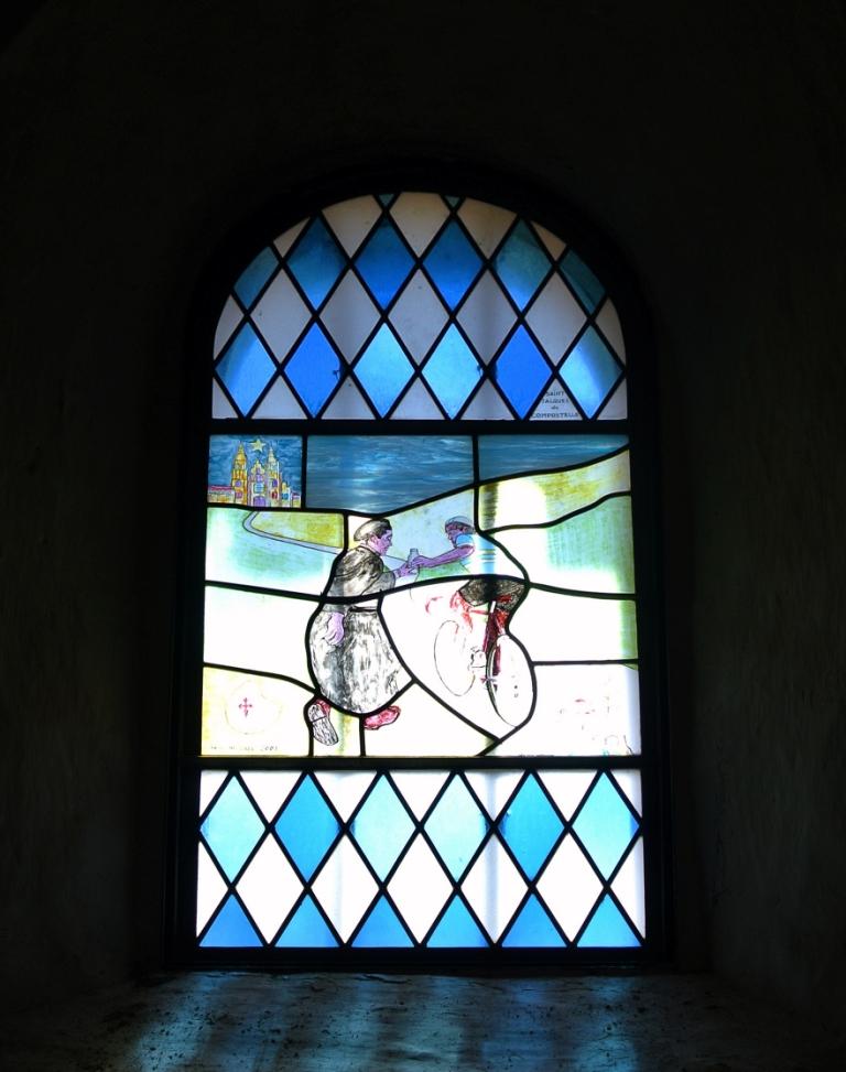 Il cammino di Compostela vetrata