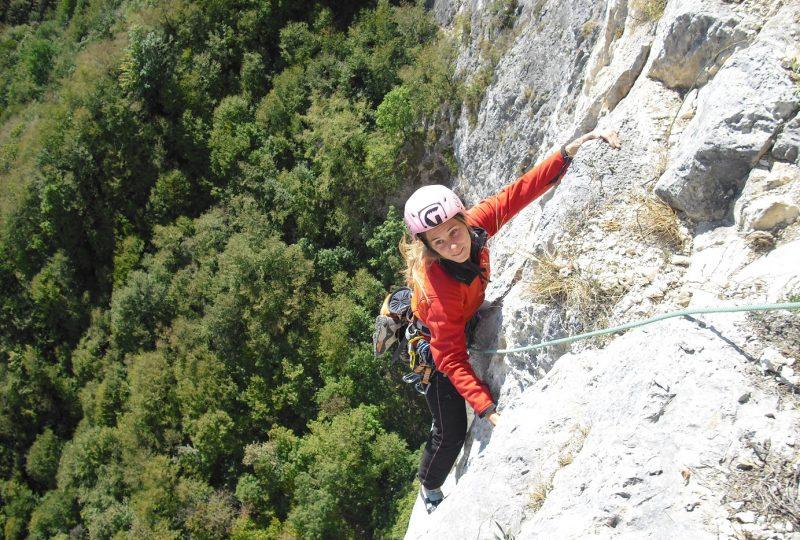 Angela Carraro in arrampicata. Foto archivio Angela Carraro