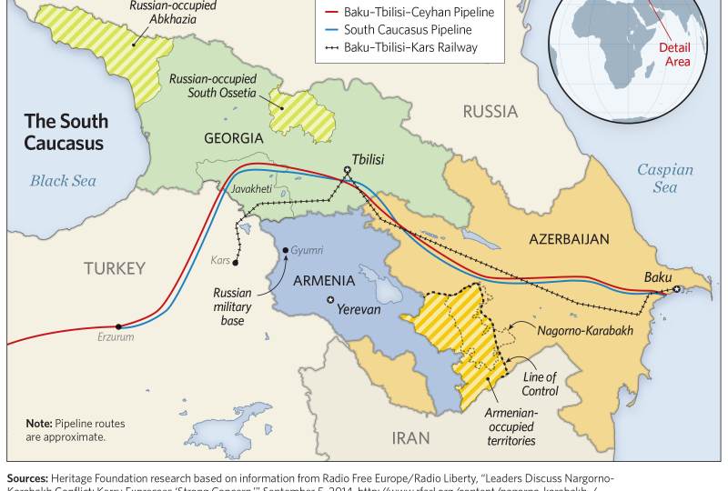 Mappa del South Caucasus Pipeline