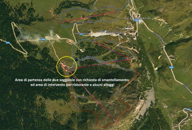 Passo Rolle, piantina del progetto La Sportiva Outdoor Paradise