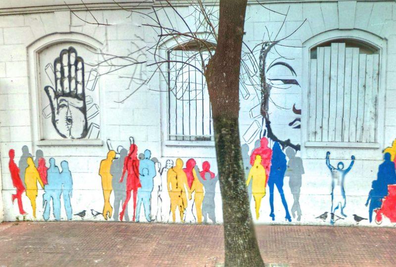 Disegni Sui Muri Ricordando Il Colpo Di Stato In Argentina Gli