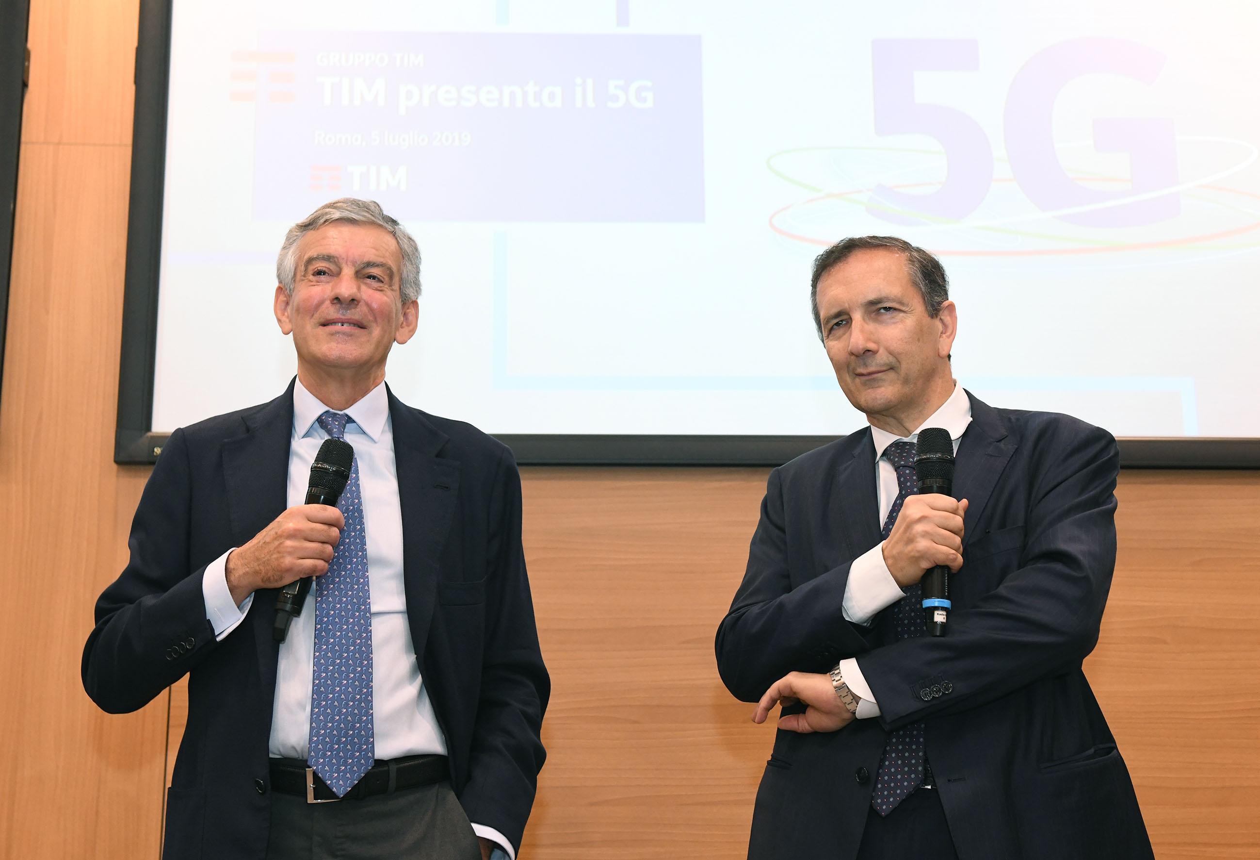 L' AD di TIM Luigi Gubitosi e il Cardiochirurgo Francesco Musumeci