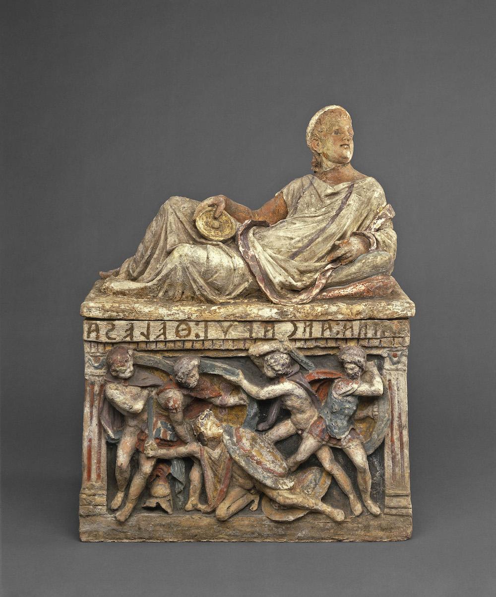 Etruscan urn (c) British Museum, Londo