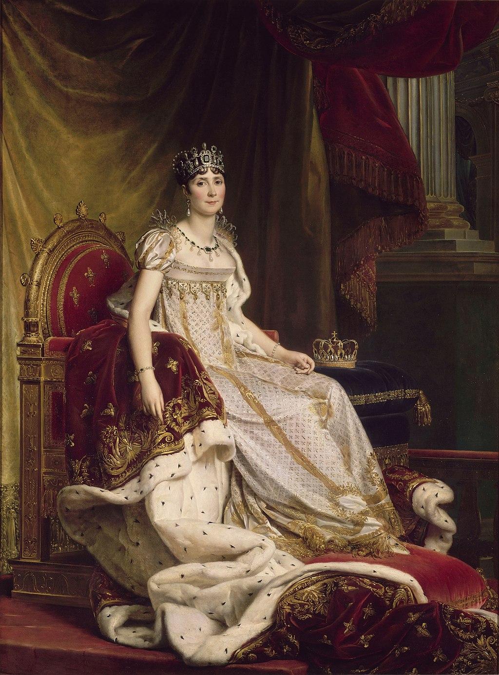 """François Gérard, """"Ritratto di Joséphine incoronata"""", Museo Nazionale del Castello di Fontainebleau, olio su tela, 1807/1808."""