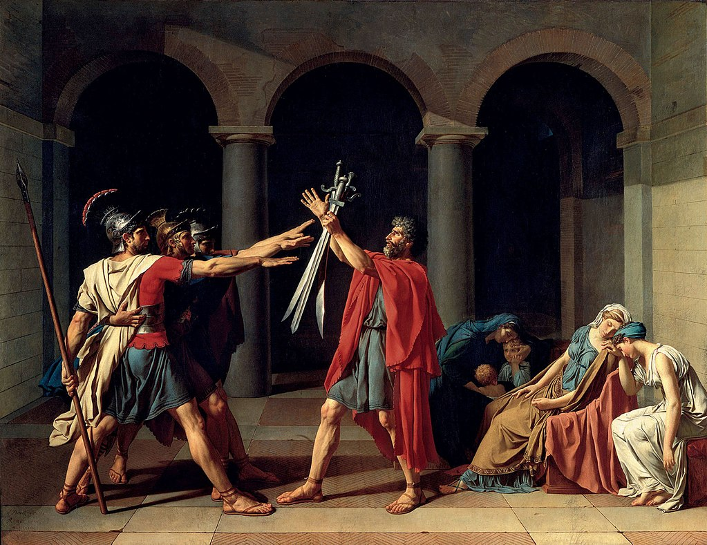 """Jacques-Louis David, """"Il giuramento degli Orazi"""""""
