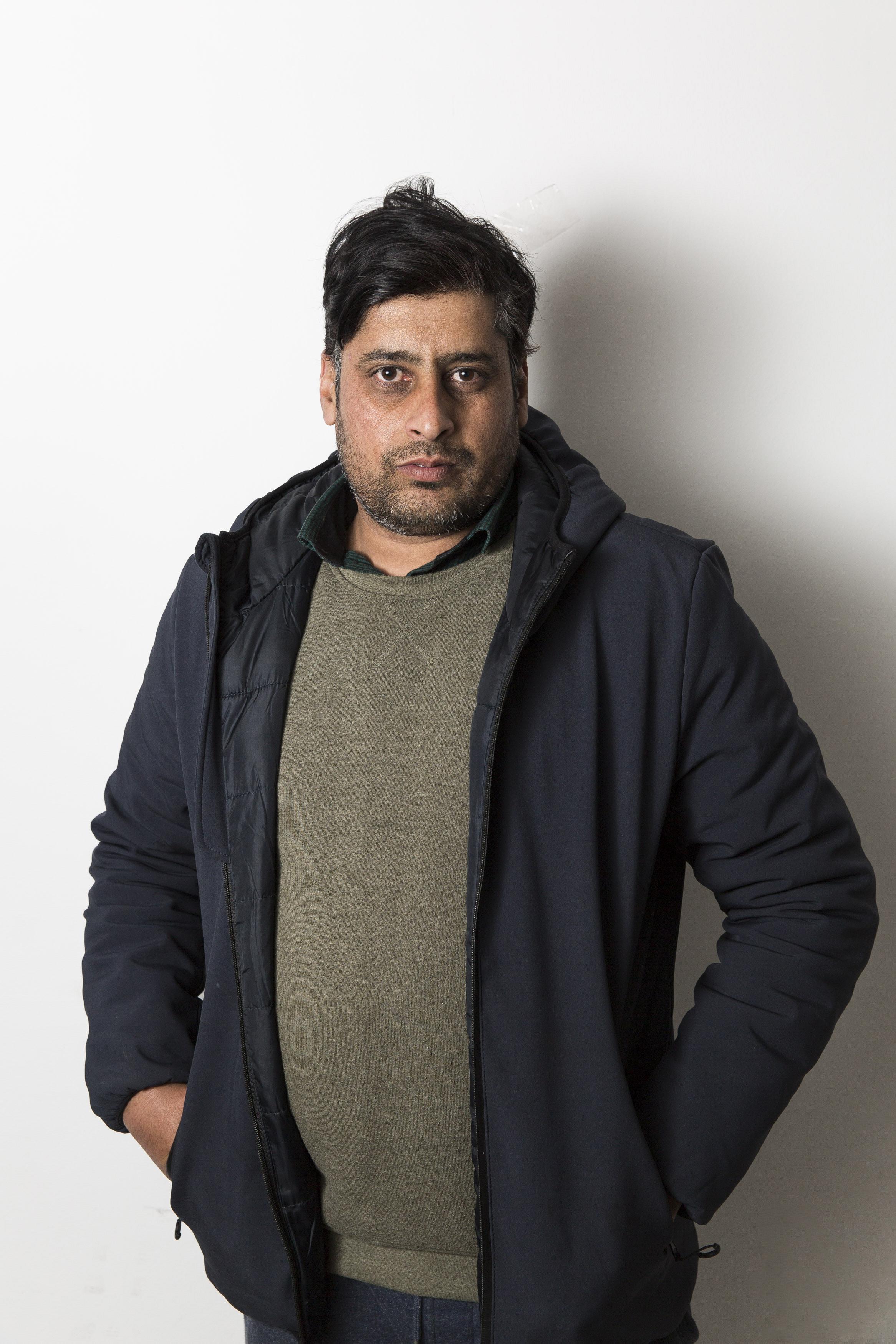 Rachid Mughal, 32 anni, operaio Fada (foto Carlo Ramerino)