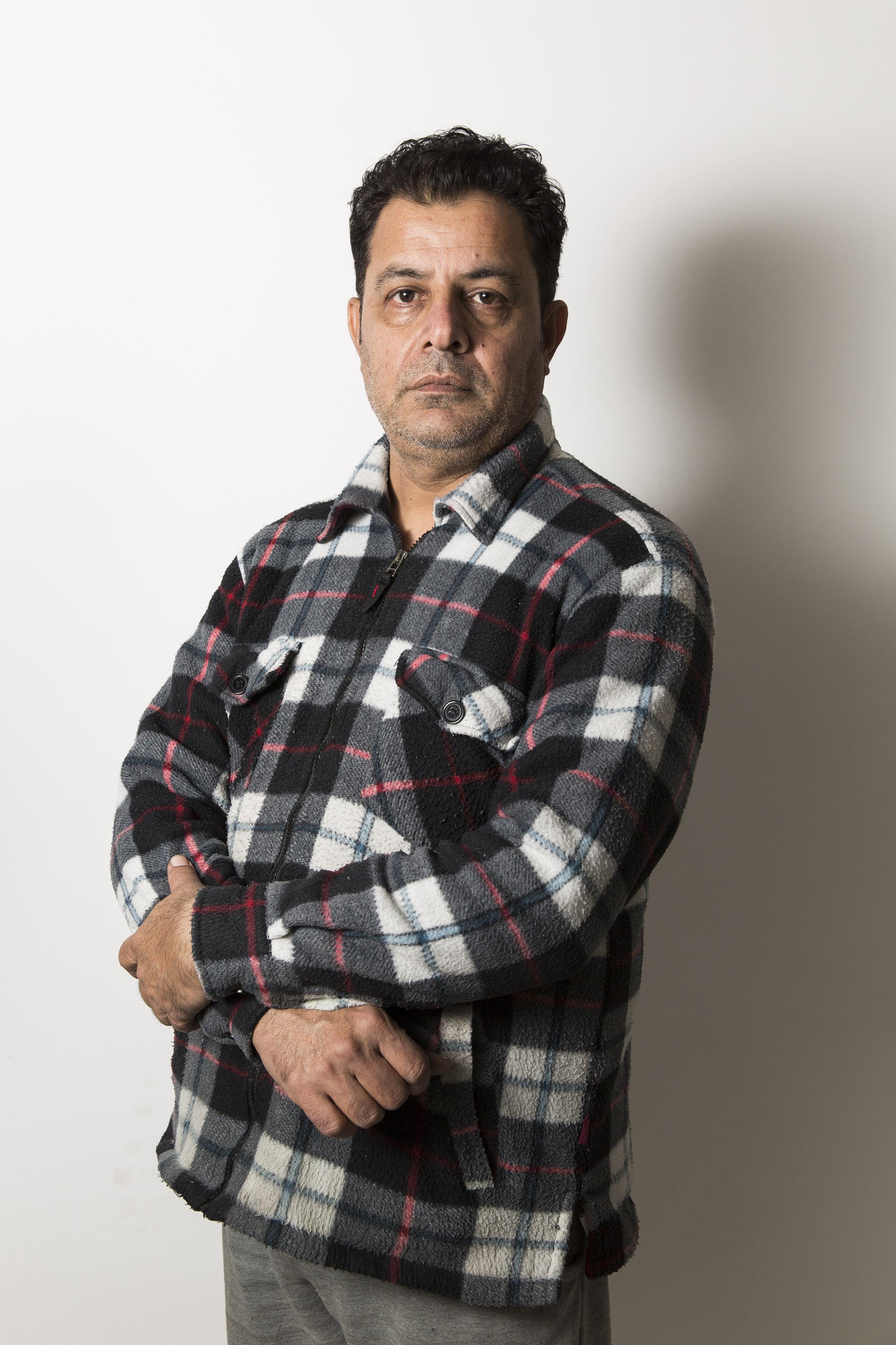 Tanveer Iqbal, 40 anni, operaio Fada (foto Carlo Ramerino)