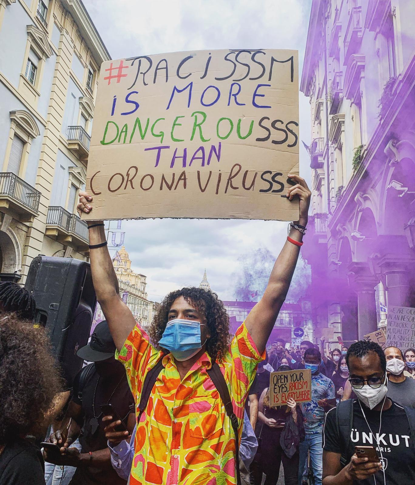 Sit-in Black lives Matter - Torino