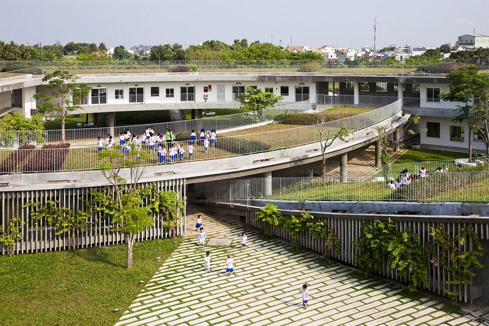 Vo Trong Nghia Architects, Farming Kindergarten, 2018