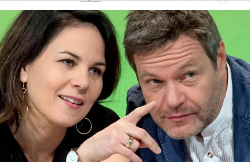 Annalena Baerbock e Robert Habeck, i due co-presidenti del partito dei Grünen. Annalena Baerbock è la candidata ufficiale del partito alla cancelleria della Repubblica federale tedesca nelle elezioni del 26 settembre 2021